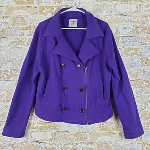 Old Navy asymmetrical blazer jacket purple M
